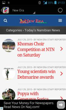 Namibian News apk screenshot
