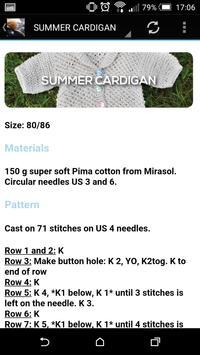 Baby Knitting Patterns apk screenshot