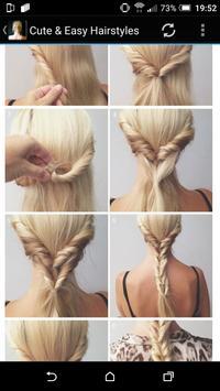 Cute & Easy Hairstyles apk screenshot