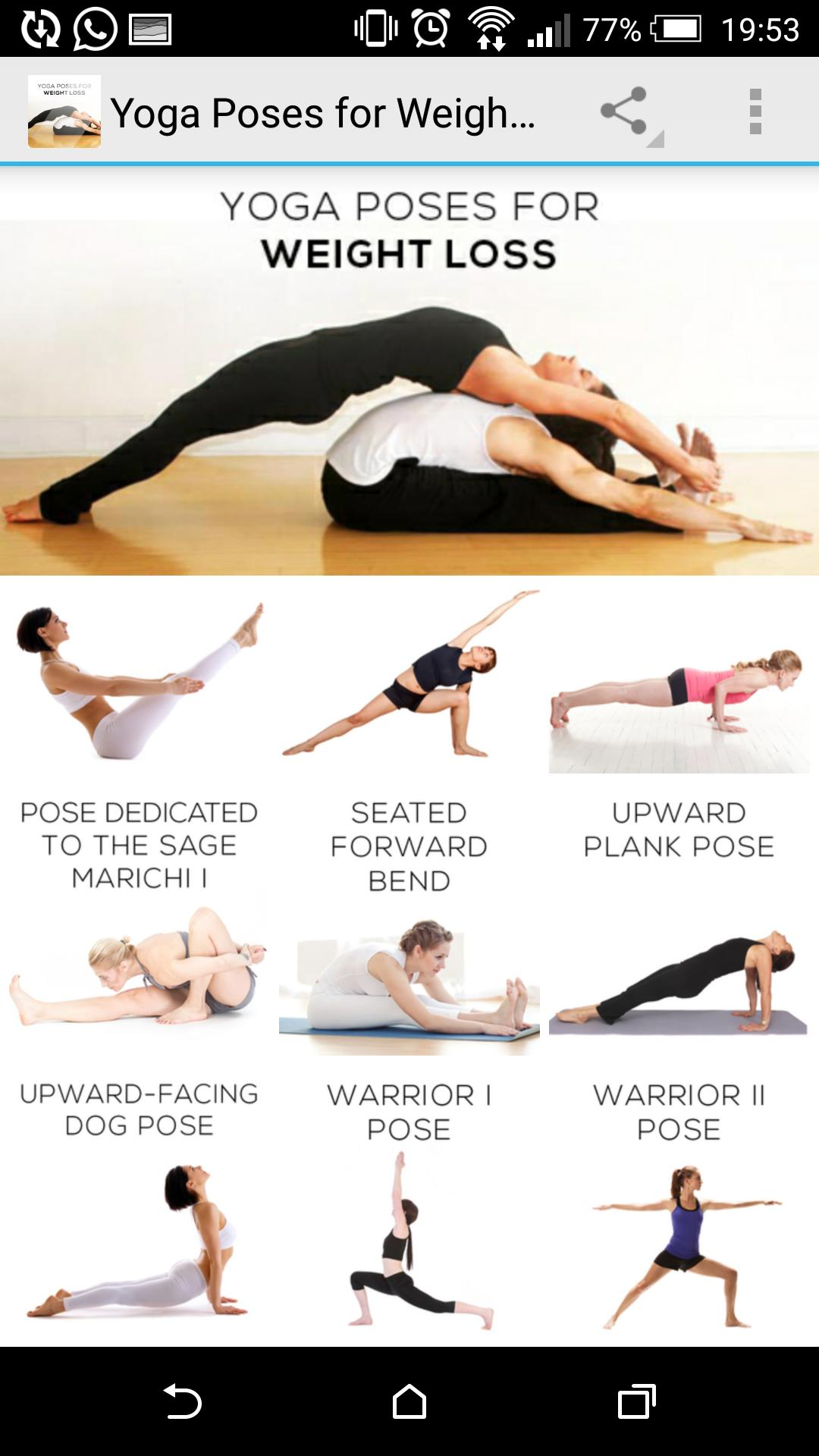 Yoga Poses for Weight Loss for Android   APK Download