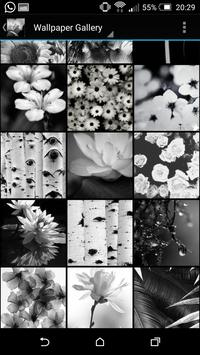 Floral Wallpaper Black & White apk screenshot