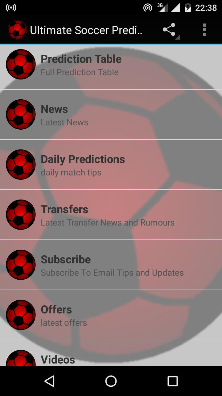 Ultimate Soccer Predictions for Android - APK Download