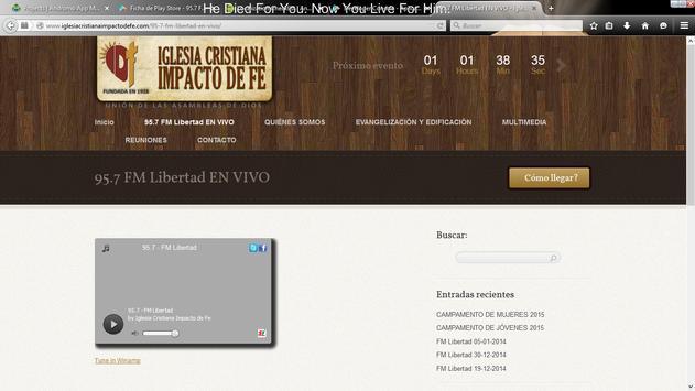 95.7 Fm Libertad screenshot 2