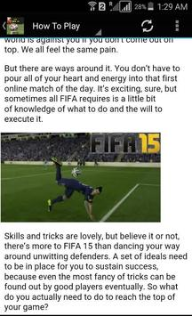 New FIFA 15 Ultimate Guide screenshot 1