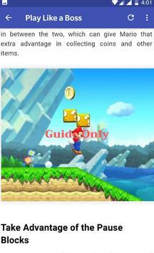 New Super Mario Guide poster