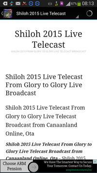 Shiloh 2015, Bishop Oyedepo apk screenshot