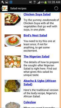 Nigerian food recipes apk screenshot