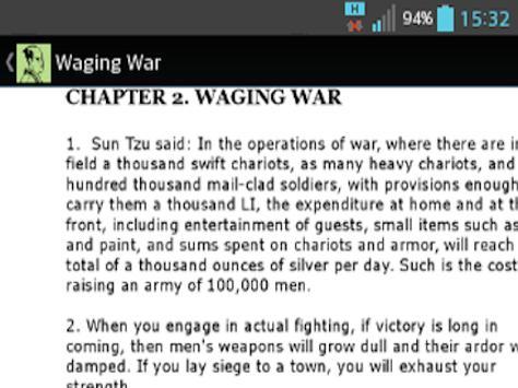 The Art of War screenshot 1
