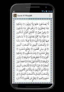 Surat Al-Waqiah Teks dan MP3 apk screenshot
