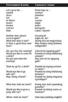 Filipino Tagalog Phrasebook apk screenshot