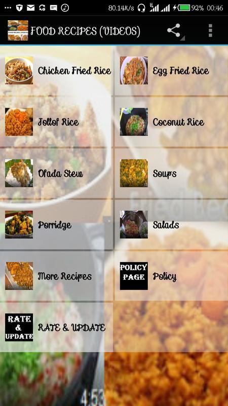 Food recipes videos descarga apk gratis comer y beber aplicacin food recipes videos poster forumfinder Choice Image