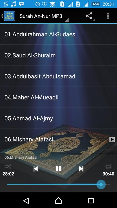 Surah an-nur mp3 apk download free music & audio app for android.