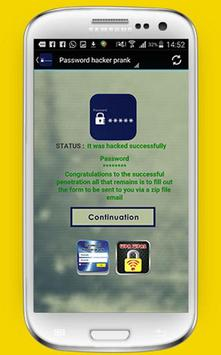 Password hacker prank screenshot 3