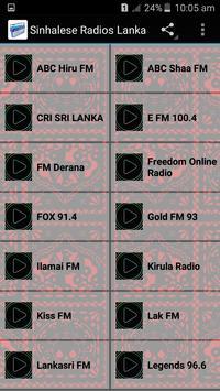 Sinhalese Radios Lanka poster