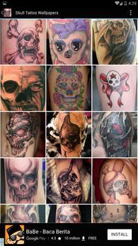 Skull Tattoos Wallpaper poster
