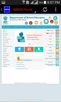 WBSED Portal screenshot 2