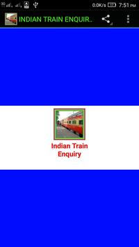 INDIAN TRAIN ENQUIRY poster