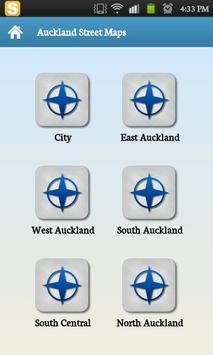 Auckland Street Map poster