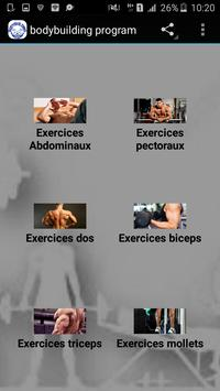 Bodybuilding program poster