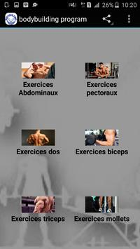 Bodybuilding program apk screenshot