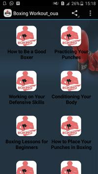 Boxing Workout poster