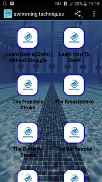 swimming techniques poster