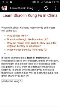 shaolin kung fu apk screenshot