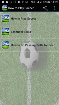 How to Play Soccer poster