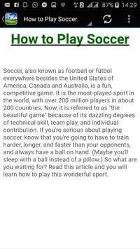 How to Play Soccer screenshot 1