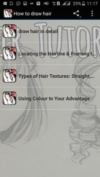How to draw hair poster