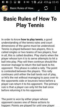 How to play Tennis apk screenshot