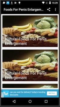 Foods For Penis Enlargement poster