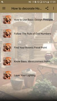 How to decorate Home poster