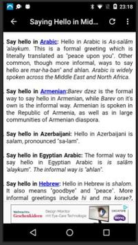 Say Hello in Different Languages apk screenshot