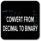 Convert from Decimal to Binary icon