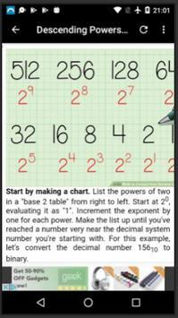 Convert from Decimal to Binary apk screenshot