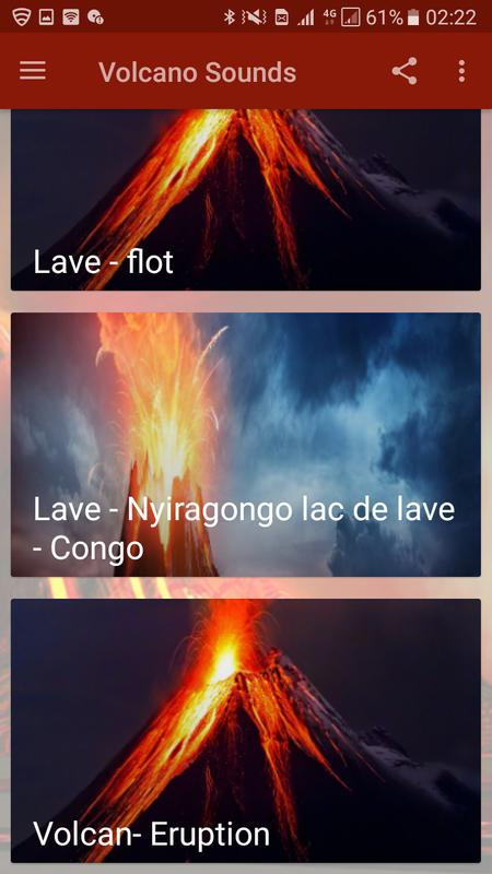 Volcano and lava sounds for android apk download.