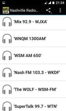 Nashville Radio Stations poster