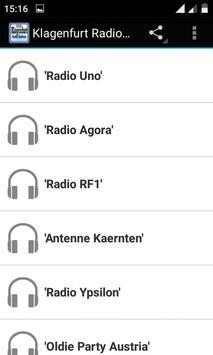 Klagenfurt Radio Stations poster