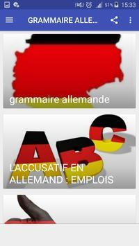 Grammaire allemande poster