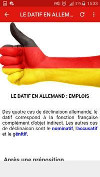 Grammaire allemande screenshot 4