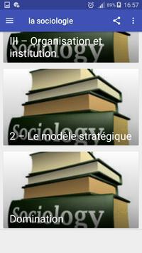 la sociologie apk screenshot