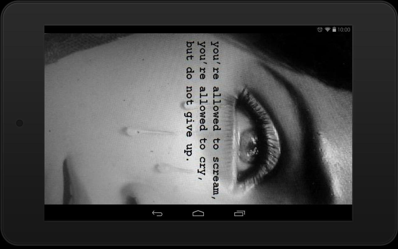 Depression Quote Wallpapers Apk Screenshot