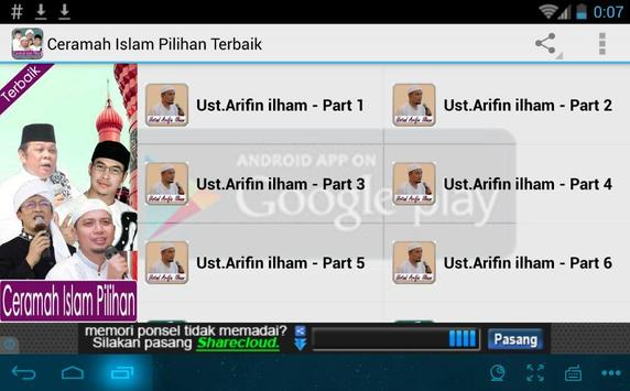 Ceramah Islam Pilihan Terbaik apk screenshot