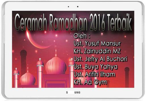 Ceramah Ramadhan 2016 Mp3 apk screenshot