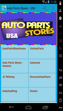 Auto Parts Stores : USA poster