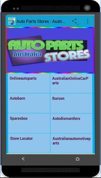 Auto Parts Stores : Australia poster
