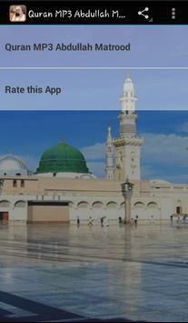 Abdullah Matrood Quran Audio poster