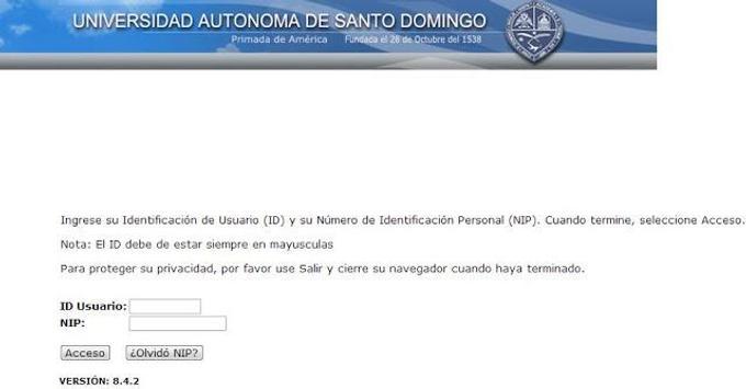 UASD AUTOSERVICIO!! apk screenshot