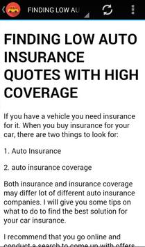 Low Auto Insurance Quotes screenshot 1